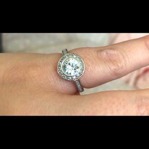Swarovski Blue Crystal Ring Size 6.5